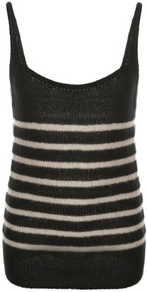 KHAITE Striped Knitted Top
