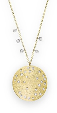 Meira T 14K Yellow & White Gold Large Disc Necklace, 16