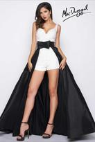Mac Duggal Black White Red Style 85606R