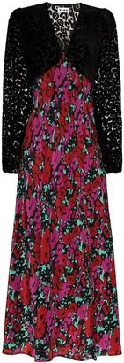 Rixo floral-print V-neck dress