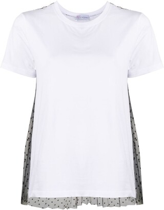 RED Valentino lace embellished short-sleeved T-shirt
