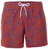 Topman Red and Blue Camo Print Swim Shorts