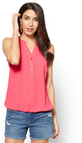New York & Co. Soho Soft Shirt - Sleeveless Bubble-Hem Blouse