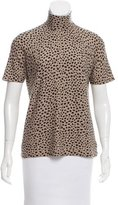 Akris Cheetah Patterned Cashmere Top