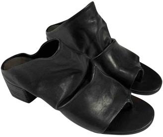 Marsã ̈Ll MarsAll Black Leather Mules & Clogs