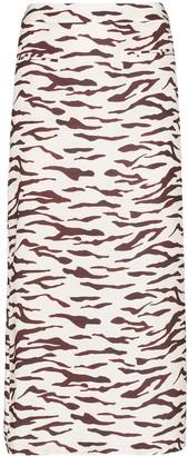 REJINA PYO Mina tiger-print midi skirt