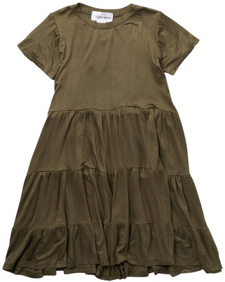 Cotton Emporium Short Sleeve Tiered Jersey Dress (Big Girls)