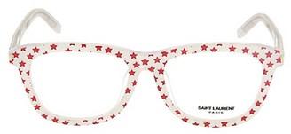 Saint Laurent 53MM Round Star-Motif Optical Glasses
