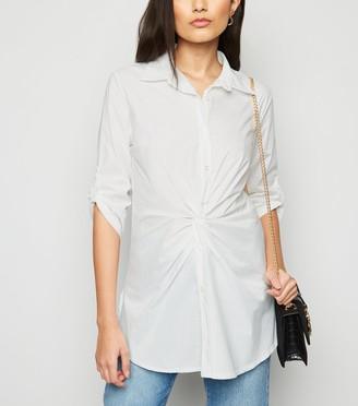 New Look Honey Behave Twist Front Shirt Dress