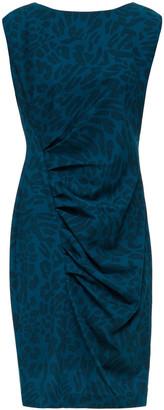 DKNY Ruched Leopard-print Stretch-crepe Mini Dress