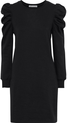 Rebecca Minkoff Janine Melange Cotton-blend Fleece Mini Dress