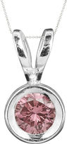 JCPenney FINE JEWELRY 1/2 CT. T.W. Color-Enhanced Pink Diamond Solitaire Pendant Necklace