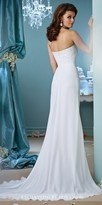 Mon Cheri Enchanting Chiffon Sweetheart Pleated Wedding Dress