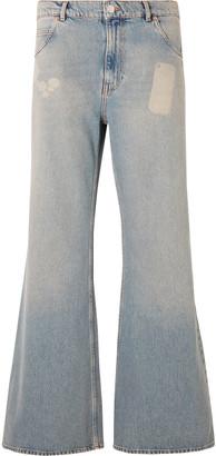 Martine Rose Flared Bleached Denim Jeans