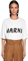Marni Oversize Logo Cotton Jersey T-shirt
