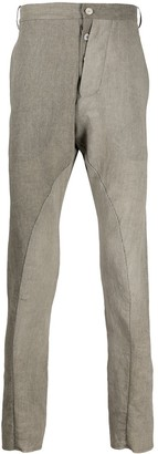 Masnada Asymmetric Fly Cotton Blend Trousers