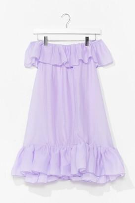 Nasty Gal Womens Frill You or Won't You Ruffle Mini Dress - Lilac