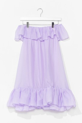 Nasty Gal Womens Frill You or Won't You Ruffle Mini Dress - Purple - 6, Purple