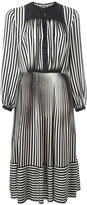 Marco De Vincenzo striped flared dress - women - Silk - 40