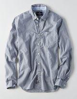 American Eagle AEO Slim Plaid Button Down Shirt