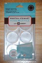Martha Stewart Crafts Martha Stewart Avery Embossed Metallic Silver Mailing Seals Labels - 18 Labels