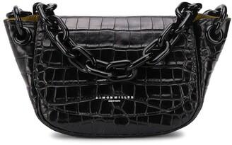 Simon Miller embossed style chain strap shoulder bag