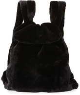 The Row Mink Fur Knapsack Bag, Black