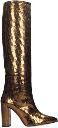 Paris Texas High Heels Boots In Bronze Leather