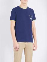 Kenzo Contrast-trim cotton-pique t-shirt