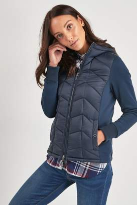 Barbour Womens Coastal Navy Forecast Hooded Hybrid Jacket - Blue