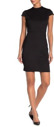 Alexia Admor Aubree Mock Neck Cap Sleeve Sheath Dress