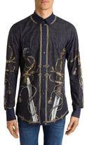 Dolce & Gabbana Sword Printed Long Sleeve Shirt