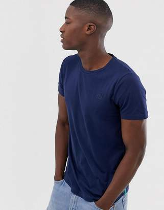 Tom Tailor t-shirt with side stripe in navy