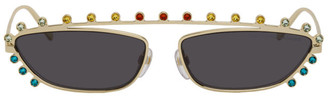 Marc Jacobs Gold The Strass Cat-Eye Sunglasses