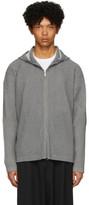 Issey Miyake Homme Plisse Grey Pleated Hoodie