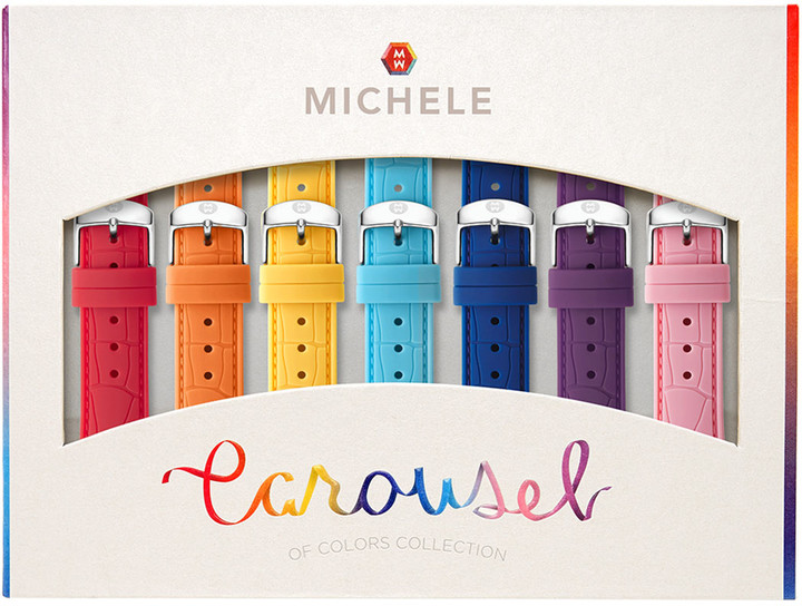 Michele Carousel 16mm Silicone Watch Strap Gift Set
