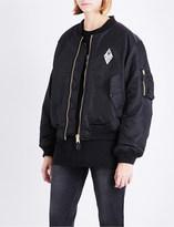 Yang Li Samizdat satin bomber jacket