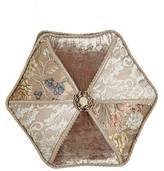 "Dian Austin Couture Home French Chantilly Hexagonal Patch Pillow, 18""Dia."