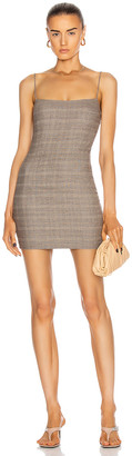 ZEYNEP ARCAY Mini Spaghetti Wool Dress in Grey | FWRD