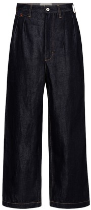 Junya Watanabe High-rise wide-leg jeans