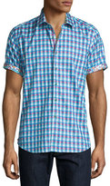 Robert Graham Randsburg Printed Short-Sleeve Sport Shirt, Berry