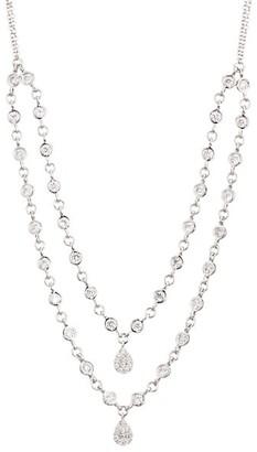 Meira T 14K White Gold & Diamond Double-Strand Bezel Necklace