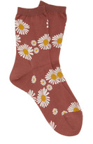 Hansel from Basel Flowers Crew Cotton-Blend Socks