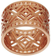 As Is Bronze Diamond Cut-Out Band Ring by Bronzo Italia