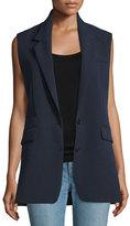 Helmut Lang Long Two-Button Vest, Navy