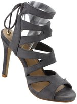 BELLA MARIE ID72 Women's lace Up Strappy Wrapped Stiletto Heel Sandals, Color:, Size:9