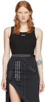 Off-White Off White Black Open-Back Bodysuit