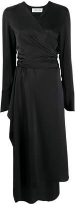Lanvin satin wrap dress