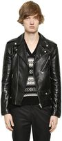 Alexander McQueen Brushed Leather Biker Jacket