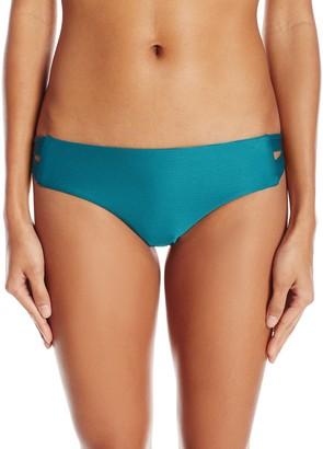 RVCA Women's Solid Textured Full Bikini Bottom